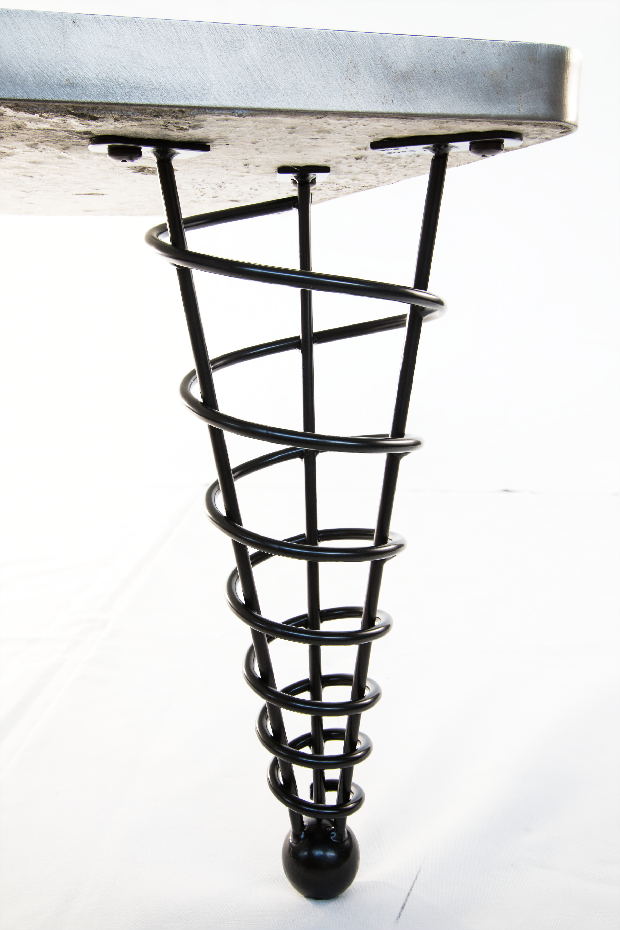 Spiral cone legs browse and buy for Buy coffee table legs
