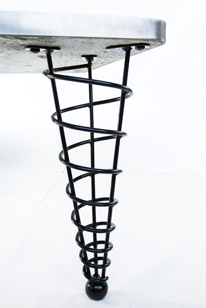 metal furniture legs modern. Table-legs-modern-steel-spiral-hotel-cone-coffee- Metal Furniture Legs Modern