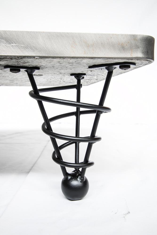 Table Legs Hotel Modern Steel Spiral Cone Sofa